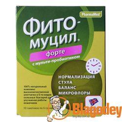 Фитомуцил Форте с мульти-пробиотиком пакетики 5 г, 10 шт. Купить, цена, отзывы.