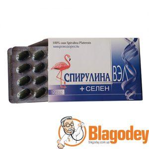 Спирулина ВЭЛ + Селен, таблетки 120шт. Купить, цена, отзывы.