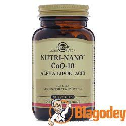 Солгар Нутрикоэнзим Q10 с альфа липоевой кислотой Solgar Nutri-Nano CoQ-10 Alpha Lipoic Acid. Купить, цена, отзывы.