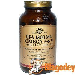 Солгар Омега (Omega) 3-6-9, 1300 мг капсулы, 120 шт.