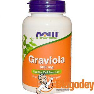 Now Foods Graviola (Гравиола гуанабана). Купить, цена, отзывы