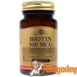 Солгар, Биотин (Solgar, Biotin) 300 мкг табл., 100 шт. Купить, цена, отзывы