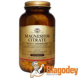 Солгар Цитрат магния (Solgar, Magnesium Citrate), таблетки 200 мг, 120 шт. Купить, цена, отзывы