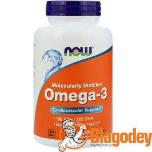 Now Foods Омега-3 ЭПКДГК (Omega-3, 180 EPA120 DHA), 200 капс. Купить, цена, отзывы.