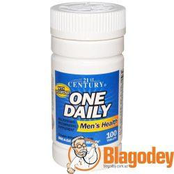 21st Century, One Daily для мужчин, 100 таб. Купить, цена, отзывы.